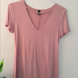 Pink cut-out tee